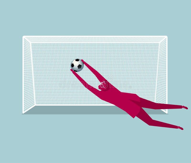 足球选手,守门员 库存例证
