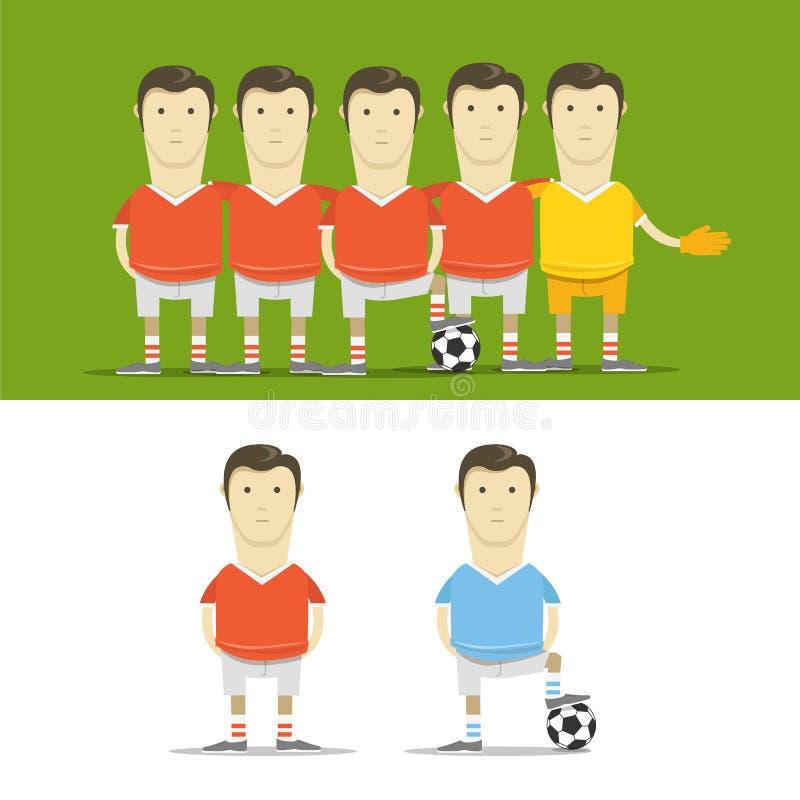 足球队员夹子艺术 库存例证