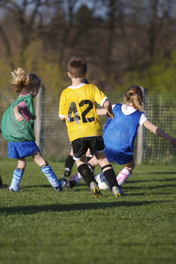 足球青年时期 库存图片