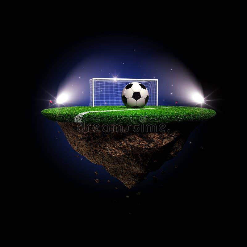 足球,超现实的体育场 皇族释放例证
