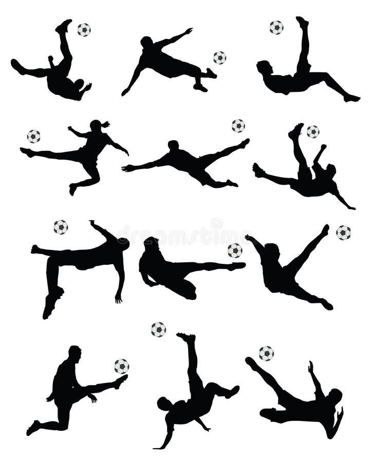 足球,足球运动员超级反撞力 皇族释放例证