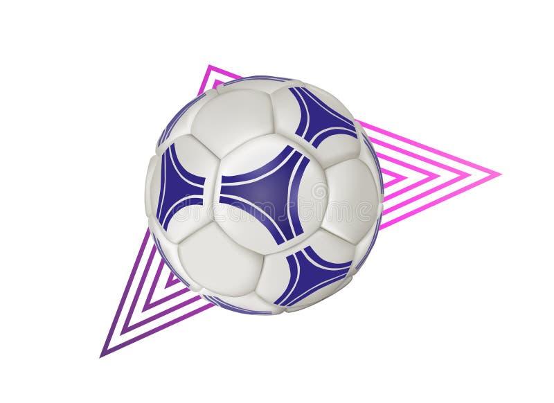 足球-几何现代传染媒介现实被隔绝的剪贴美术 向量例证