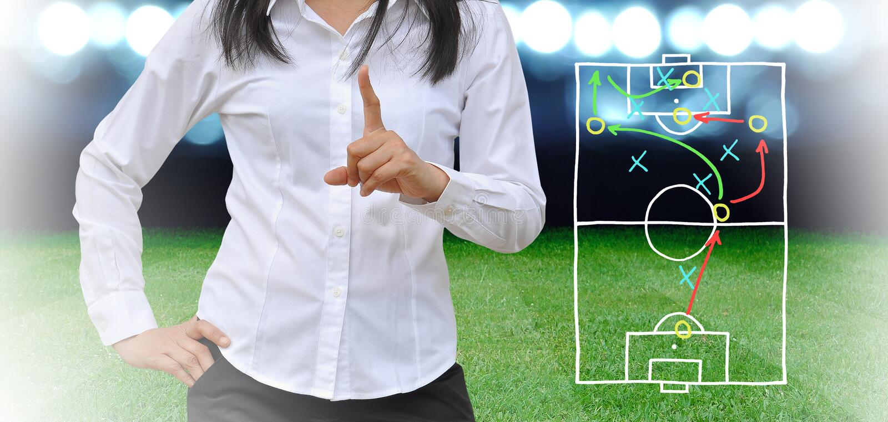 足球经理 免版税库存照片