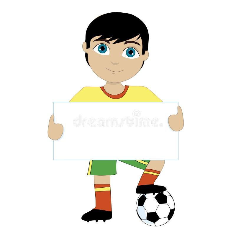 足球boy.EPS10文件简单的梯度 皇族释放例证