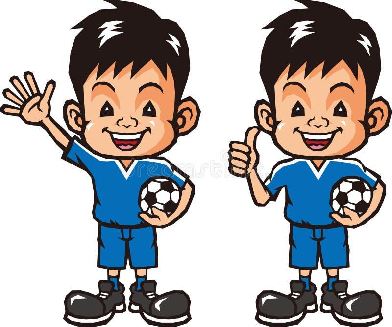 足球boy.EPS10文件简单的梯度 向量例证
