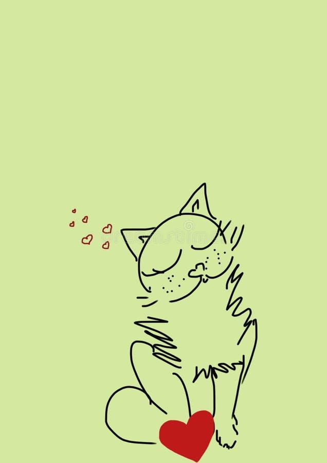 满足的猫 免版税库存图片