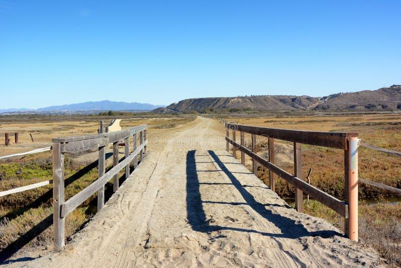 足迹在边界领域国家公园,加利福尼亚 免版税库存照片