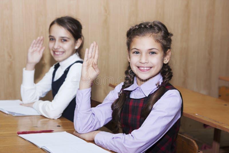 活跃矮小的女小学生 库存照片