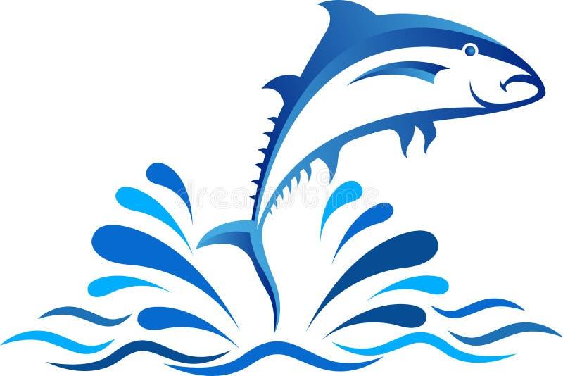 跃迁鱼设计 向量例证