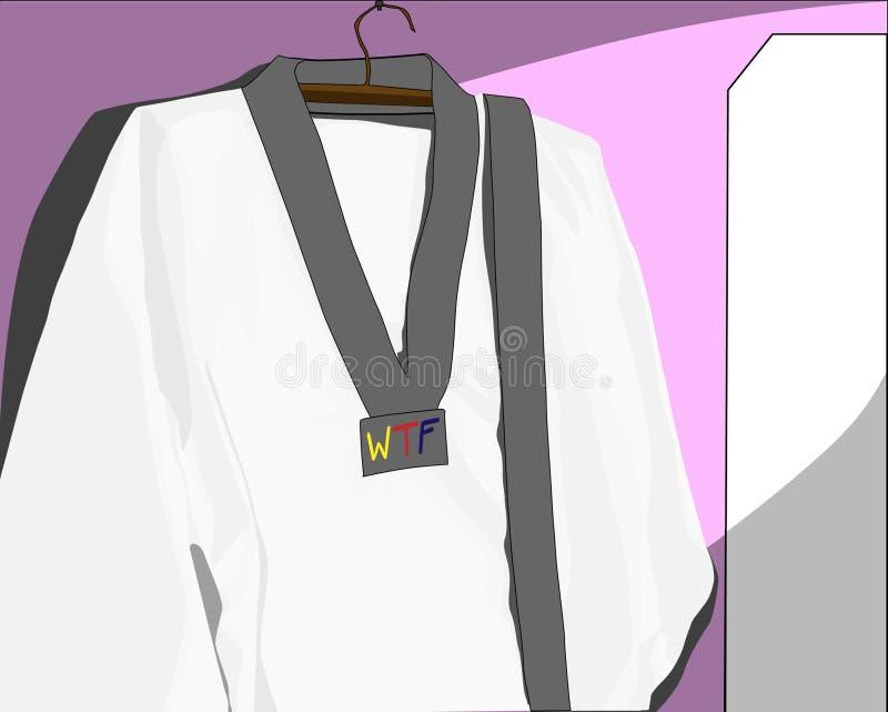 跆拳道制服 免版税图库摄影