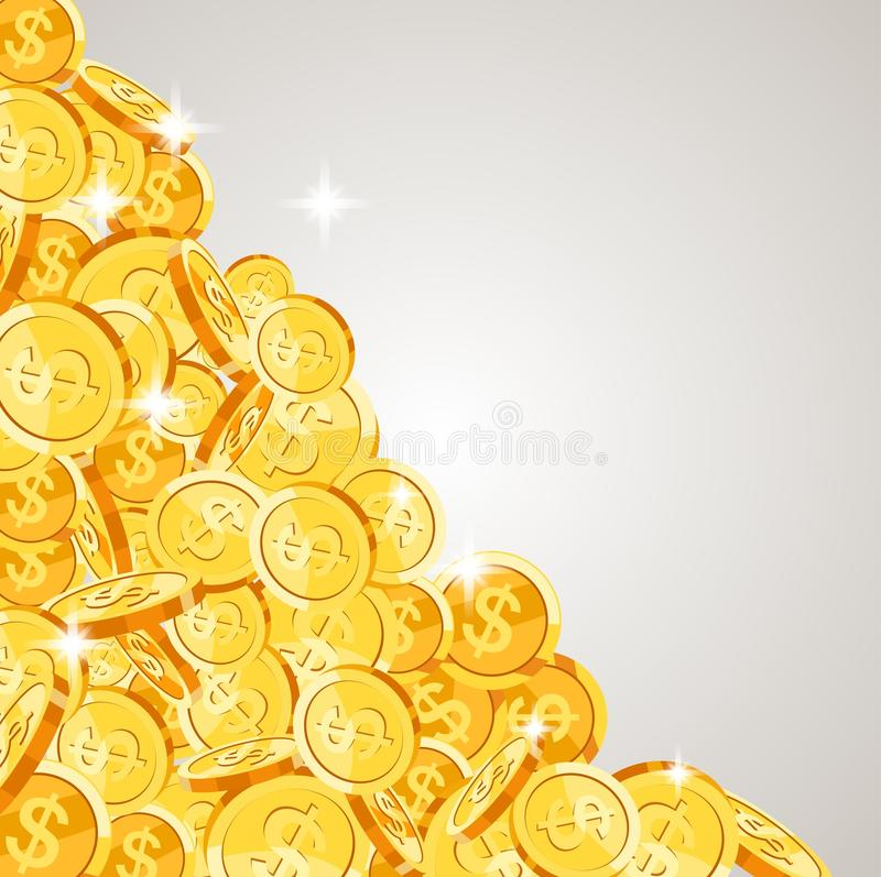 跌倒现实的金币 皇族释放例证