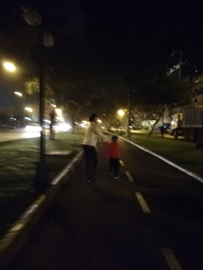 跑在街道上 免版税图库摄影