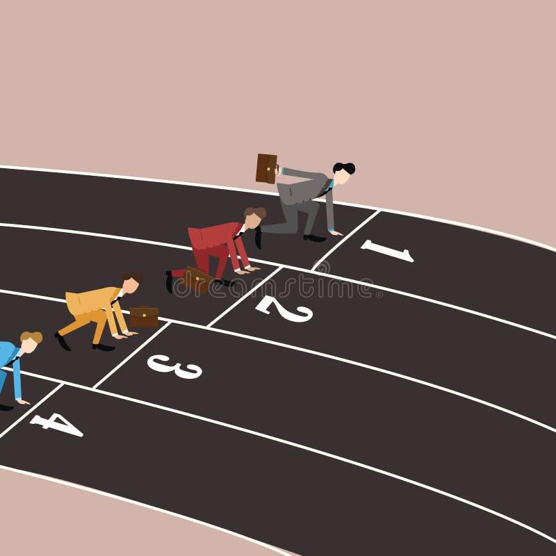 跑在轨道的企业竞争 向量例证