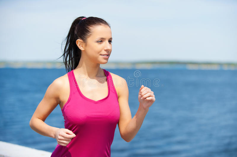 跑是她的生活 免版税图库摄影