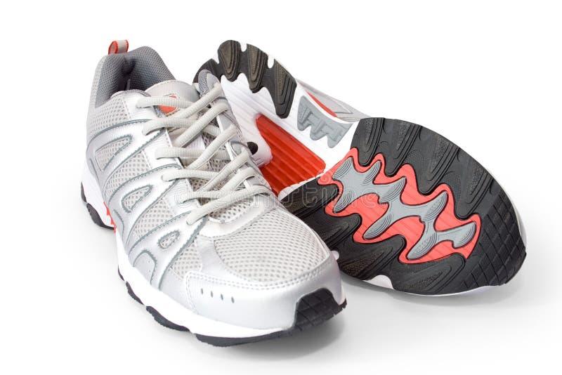 跑步的人s鞋子 免版税库存图片