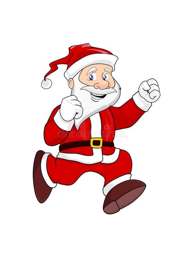 跑的圣诞老人项目-圣诞节例证 库存例证