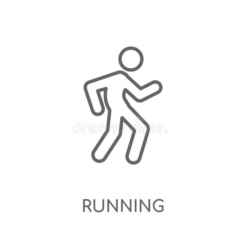 跑的线性象 现代在丝毫的概述连续商标概念 库存例证