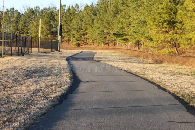 跑的路在公园 免版税库存图片