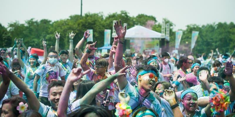 跑的颜色-成都2016年 图库摄影