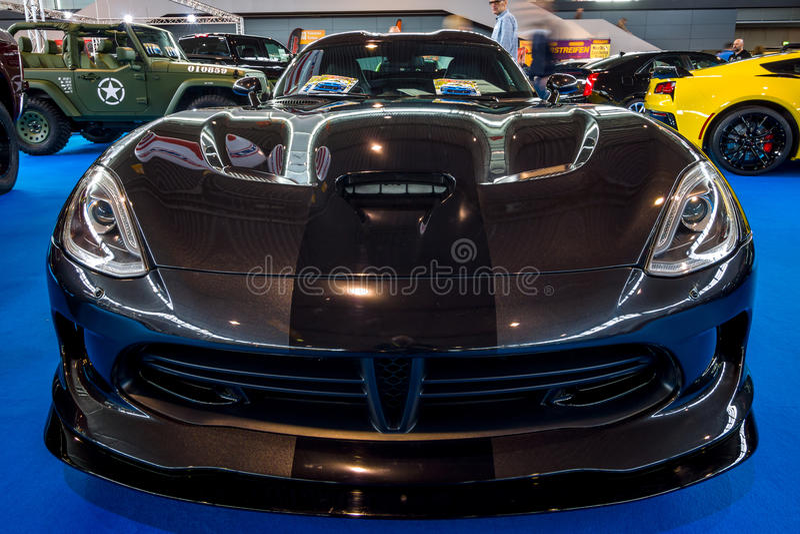 跑车推托SRT蛇蝎GTS小轿车, 2014年 图库摄影