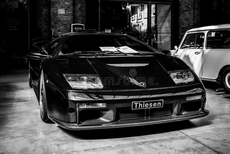 跑车Lamborghini蝙蝠鱼GT, 2001年 免版税库存图片