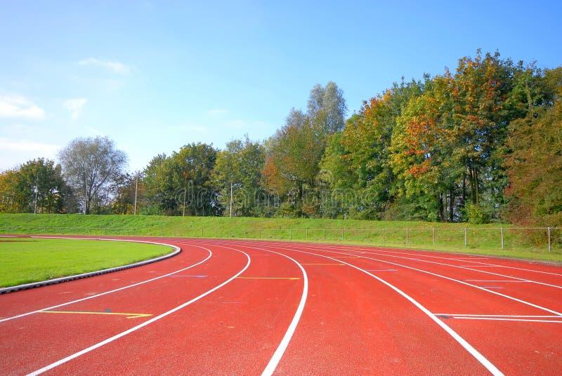 跑道赛跑者 免版税库存照片