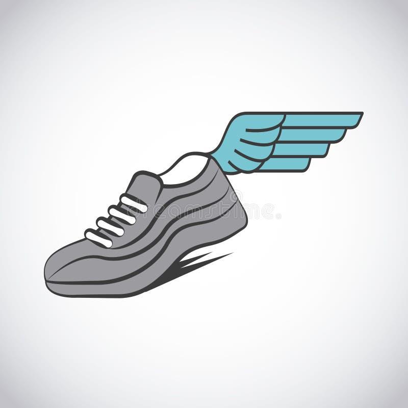 跑鞋体育运动 库存例证