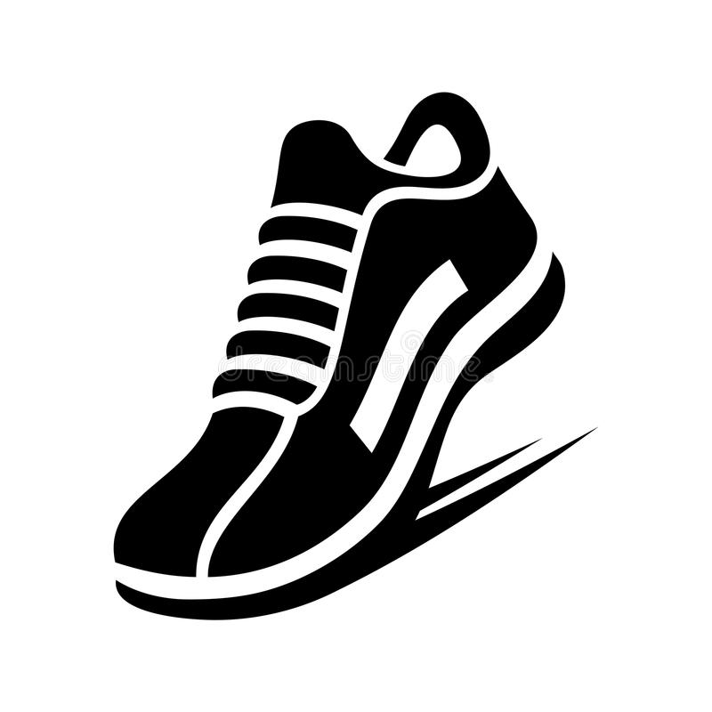 跑鞋象 向量 皇族释放例证