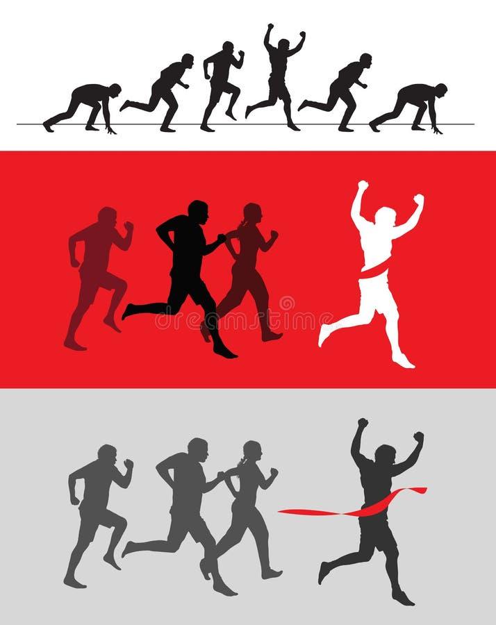 跑 向量例证