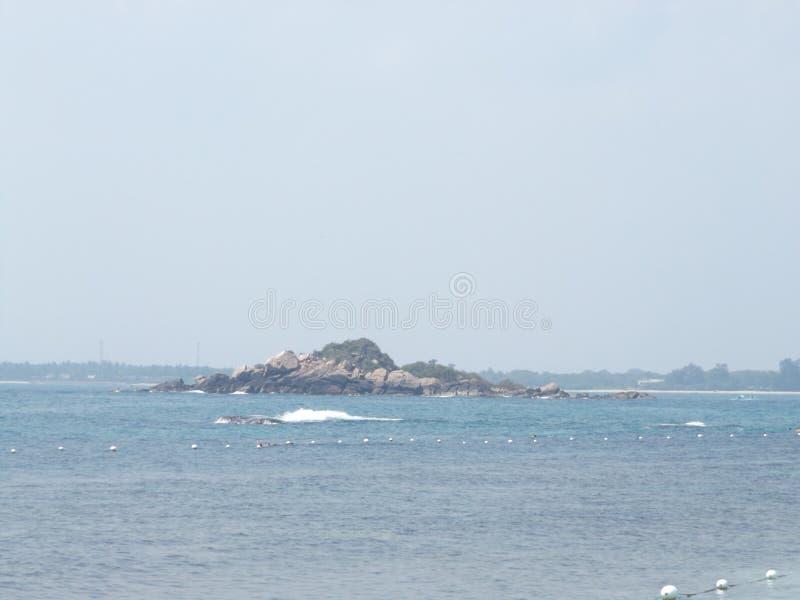 距离的一个海岛 库存图片