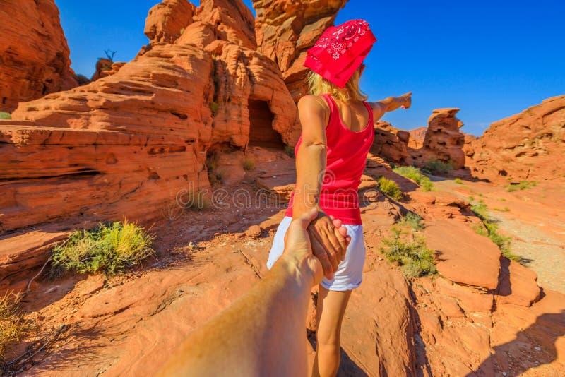 跟我学在内华达沙漠 免版税库存照片
