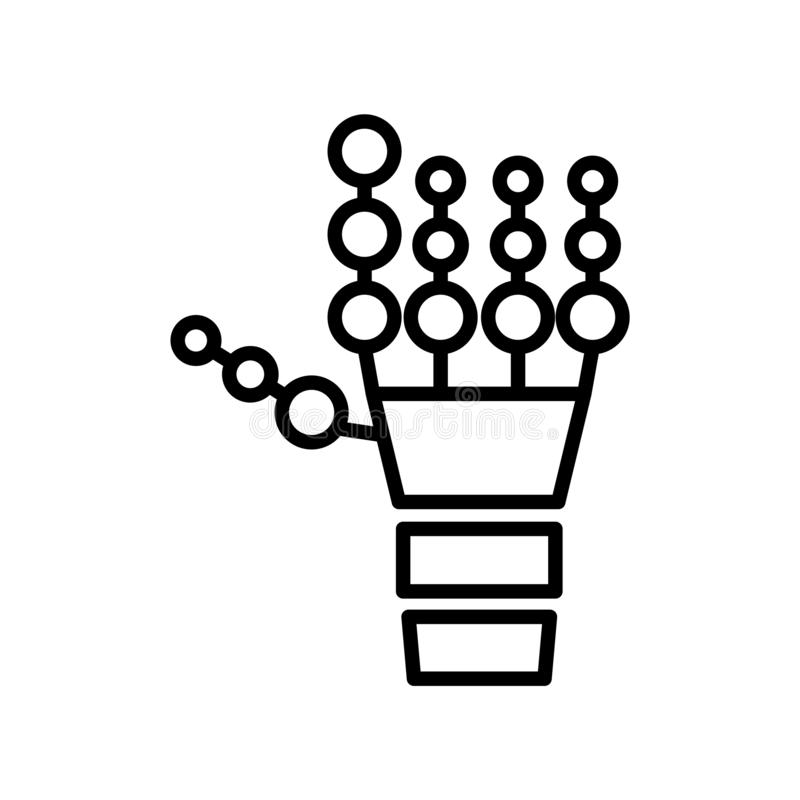 跟踪在白色背景隔绝的象传染媒介,跟踪标志、线标志或在概述样式的线性元素设计 库存例证