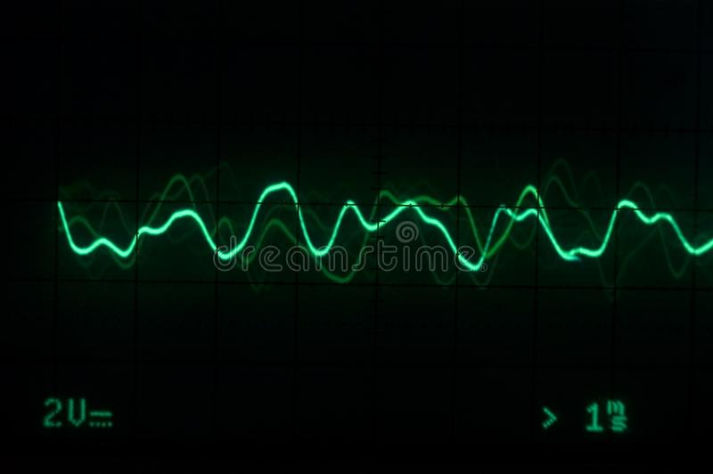 跟踪的音乐示波器 库存照片