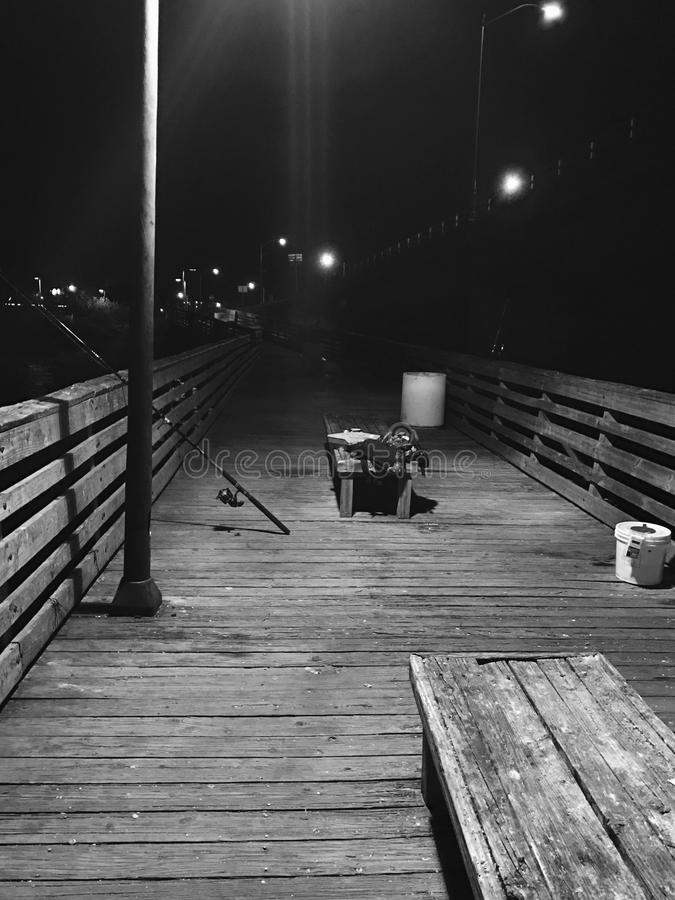 跨接晚上 图库摄影