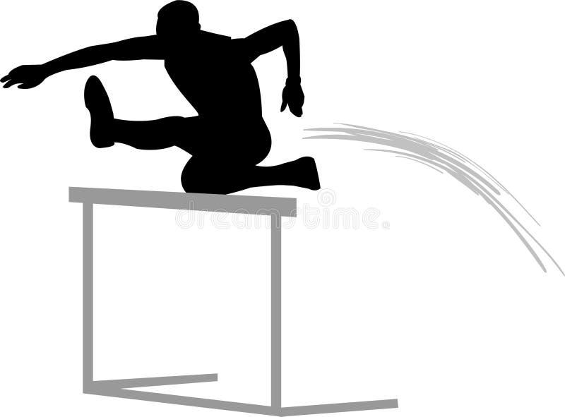 跨栏赛跑者跟踪 向量例证