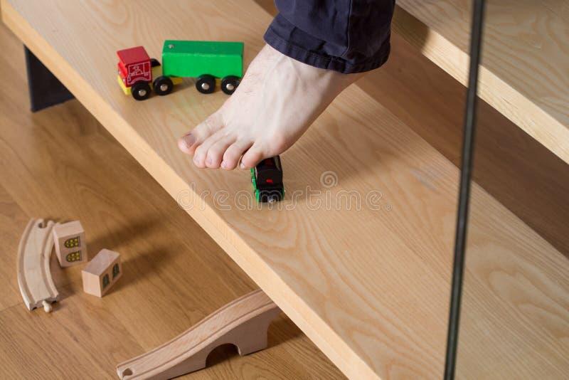 跨步在玩具 库存图片