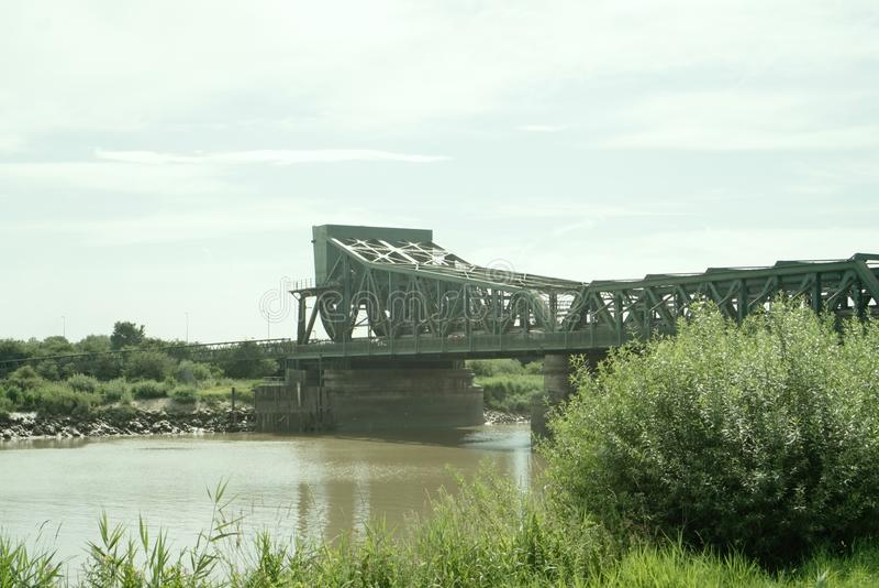 跨过河特伦特的Keadby桥梁 图库摄影