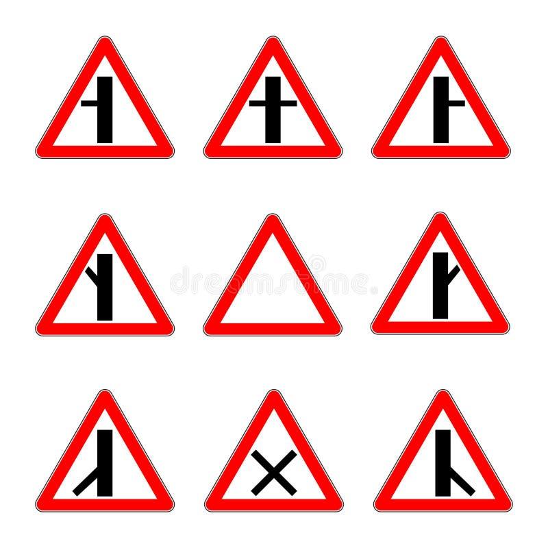 路优先权标志 连接点次要路传染媒介 向量例证
