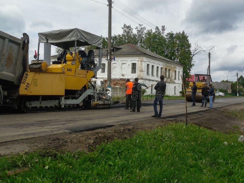 路修理在卡卢加州地区在俄罗斯 库存照片