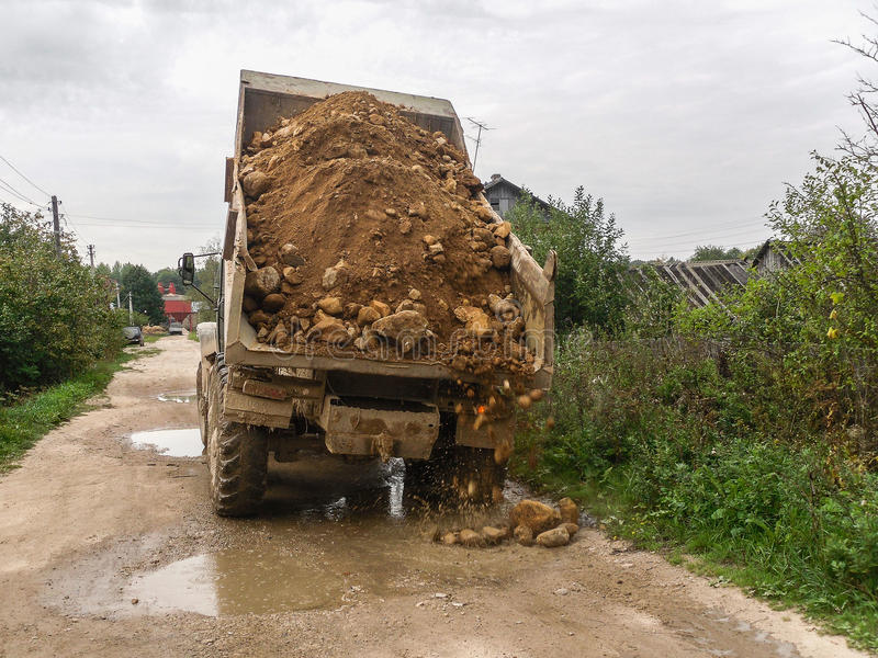 路修理在卡卢加州地区在俄罗斯 免版税库存图片