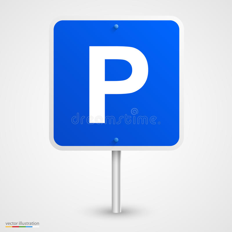 路停车处标志 向量例证