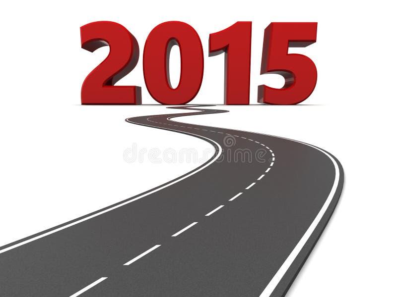 路到2015年 库存例证