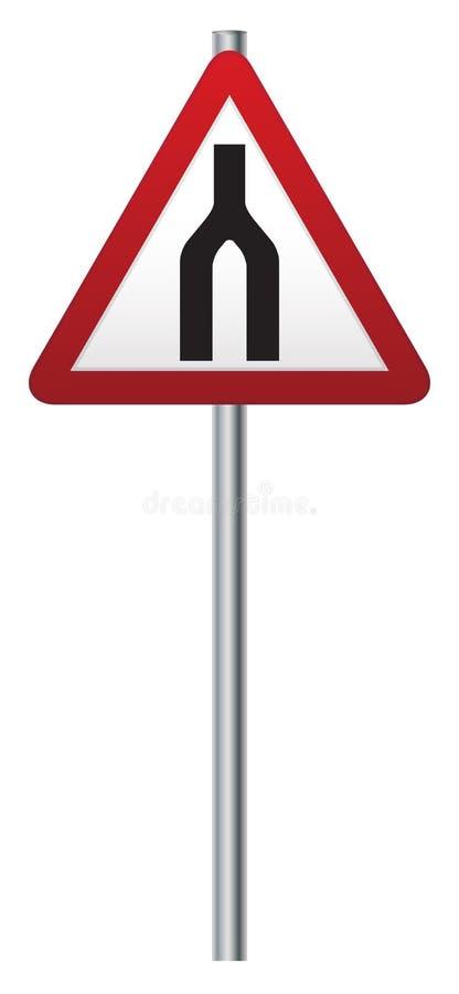 路合并前面路标 库存例证