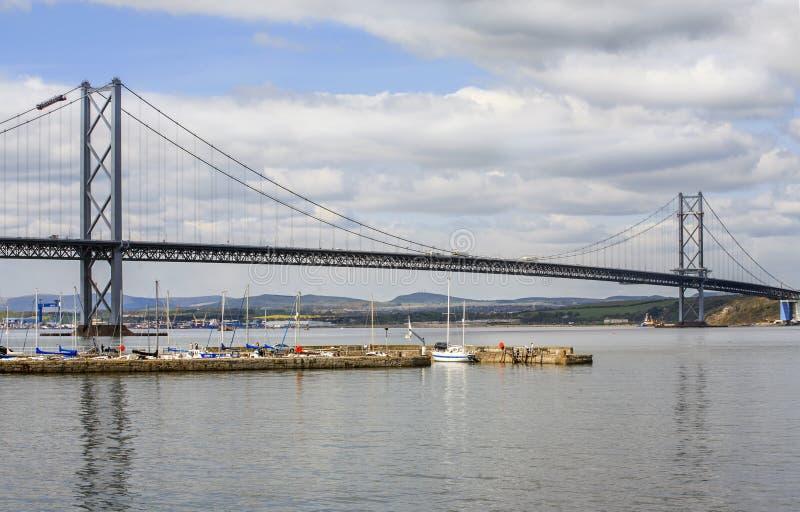 路吊桥,苏格兰 免版税图库摄影