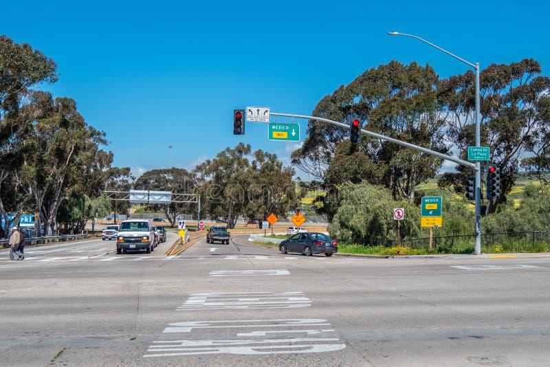 路向圣伊西德罗-加利福尼亚的,美国墨西哥- 2019年3月18日 图库摄影