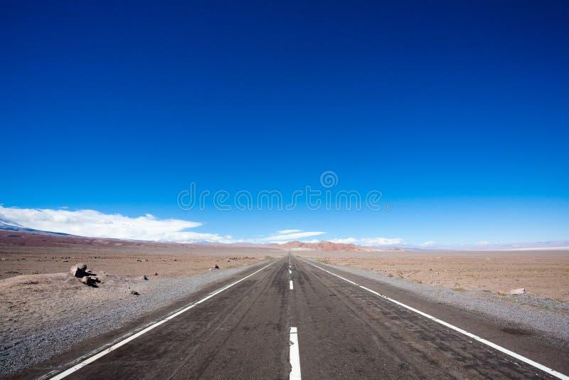 路向圣佩德罗de阿塔卡马高原,智利风景 库存图片