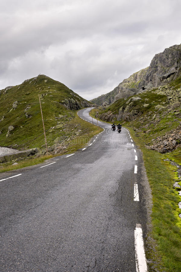 路向海于格松在挪威 免版税库存图片