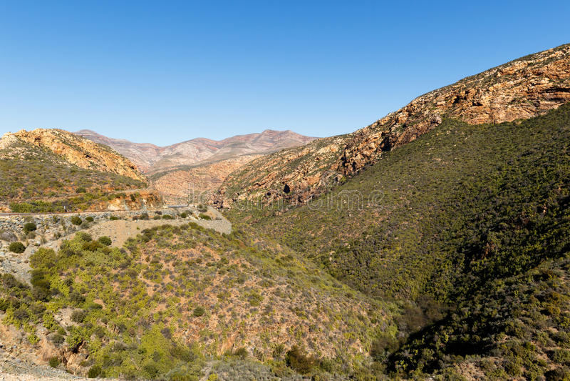 路和山-风景 库存照片