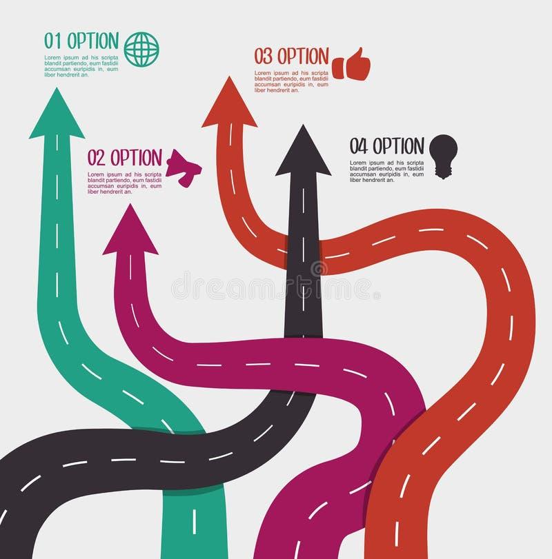 路和方式设计 库存例证