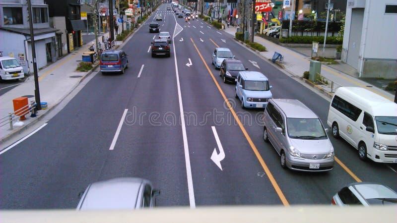 路和汽车 免版税图库摄影